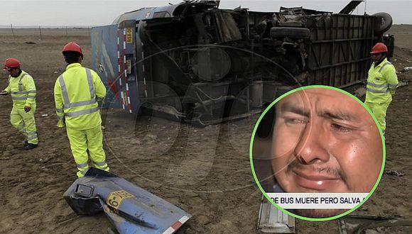 Chofer de bus muere, pero salva a más de 30 pasajeros al vaciarse los frenos | VIDEO