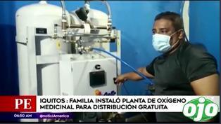 Familia instala planta de oxígeno medicinal para su distribución gratuita | VIDEO