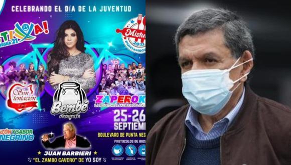 Ministro de Salud señala que las municipalidades no pueden organizar espectáculos masivos. (Foto:  @MDPNOficial/GEC)