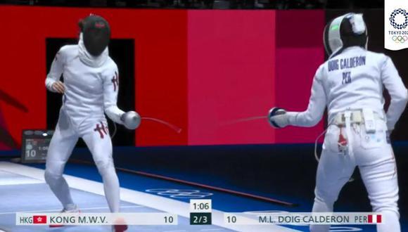 María Luisa Doig perdió en los 16avos en Esgrima en Tokio 2020. (Foto: Claro Sports)