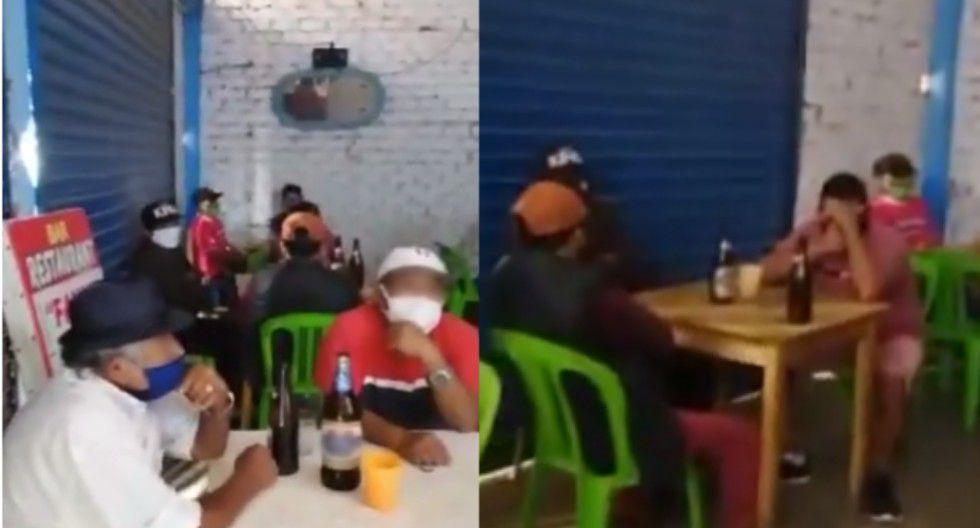 Trujillo: PNP sorprende a más de 20 hombres tomando cerveza en bar durante cuarentena.
