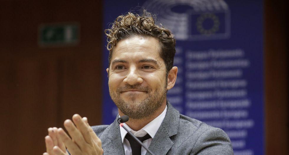 Bisbal da la cara por los niños en el Parlamento Europeo. (Foto: AFP)