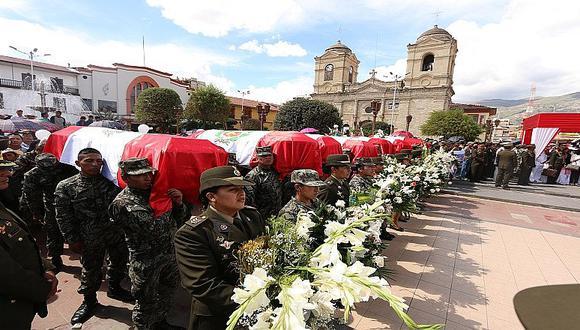 Huancayo: Así fue el emotivo adiós a fallecidos en emboscada terrorista