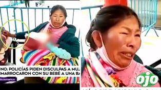 Madre con su bebito en brazos fue enmarrocada por policías durante 48 horas en un banca y desata indignación