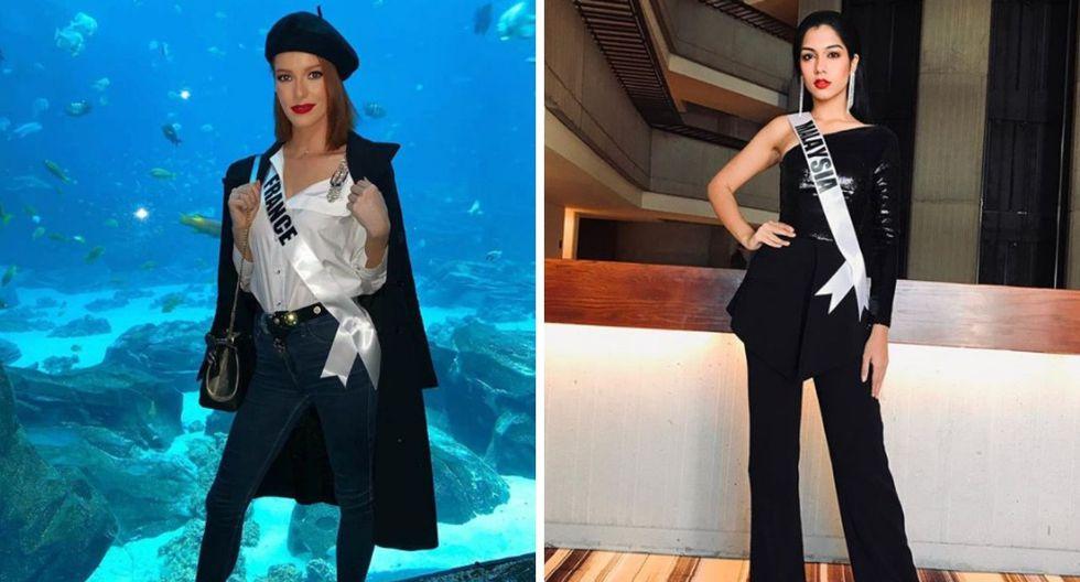 Miss Francia y Malaysia