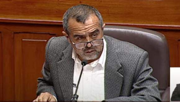 Ministro de Trabajo, Iber Maraví, respondió la interpelación ante el Congreso. (Foto: CONGRESO TV )