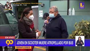 Miraflores: Joven en scooter muere tras ser atropellado por bus