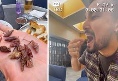 """Ezio Oliva sorprende al comer insectos en México: """"sabe rico"""" │VIDEO"""