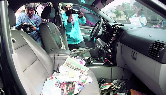 Desvalijan auto de hijo de Carlos Burgos en Dirincri