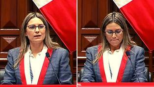 María del Carmen Alva se quiebra en primer mensaje como presidenta del Congreso