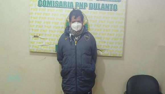Daniel Aquije fue capturado anoche por agentes de la comisaría de Dulanto. (PNP)