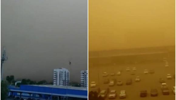 Gran tormenta de arena hace 'desaparecer' una ciudad de Rusia en cuestión de minutos. (Foto: @ActualidadRT / Twitter)
