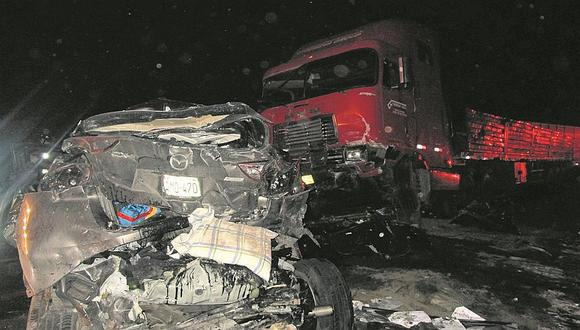 Huaura: Mamita y dos de sus hijos mueren en triple choque en la Panamericana Norte
