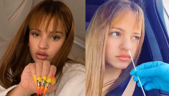 Rosalía publica video en el que se realiza la prueba del coronavirus y es criticada por sus fans. (Foto: (Instagram/Captura de video)