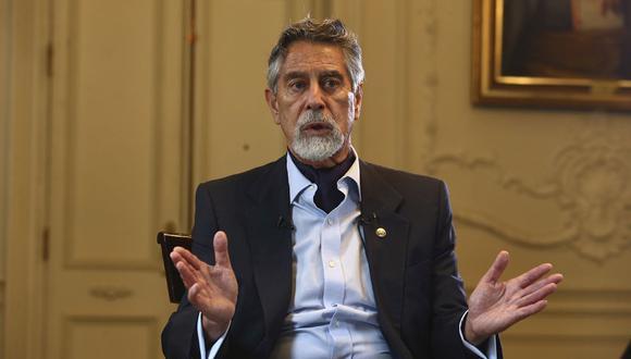 El presidente Francisco Sagasti brindó una entrevista exclusiva para El Comercio, donde se pronunció sobre los problemas del país y las acciones del Gobierno. (Foto: Alessandro Currarino)
