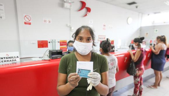 Quienes son beneficiarios de la Cuenta DNI no podrán cobrar en las ventanillas del Banco de la Nación los 760 soles, correspondiente al bono. (Foto: Midis)