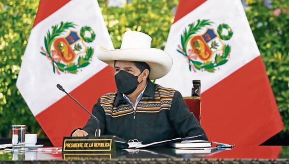 Postura. Pedro Castillo siempre ha negado cualquier financiamiento irregular a su campaña, pese a la investigación fiscal. (Foto: Presidencia )