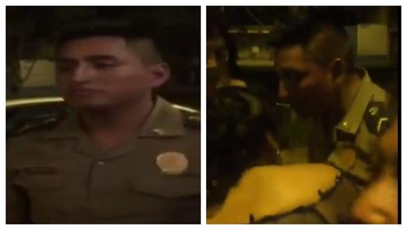 Suboficial de tercera de la Policía Nacional del Perú (PNP), Yordan Torres Rojas, fue denunciado por agredir a su pareja en Santa Anita. (Captura: Mininter)