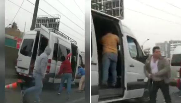 Choferes persiguen minivan de la Sutran y la destruyen en plena Panamericana Norte│VIDEO