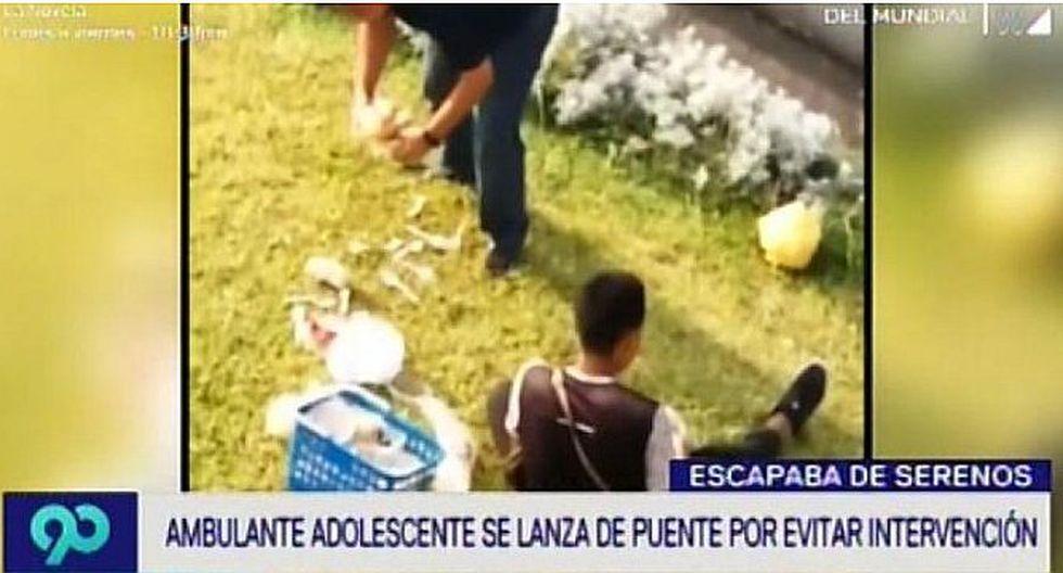 Joven ambulante cayó de un puente en San Borja tras evitar que le quiten su mercadería (VÍDEO)