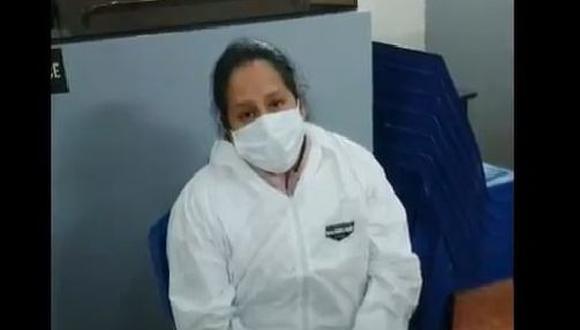 Luego del control de identidad, el juez ordenó que la detenida pase a disposición a la fiscalía de Los Olivos, a fin de que lleve a cabo las diligencias pertinentes. (Foto: Poder Judicial)