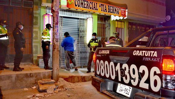 Licorerías son intervenidas por atender sin respetar el toque de queda en Ciudad Nueva (Foto: Municipalidad de Tacna).