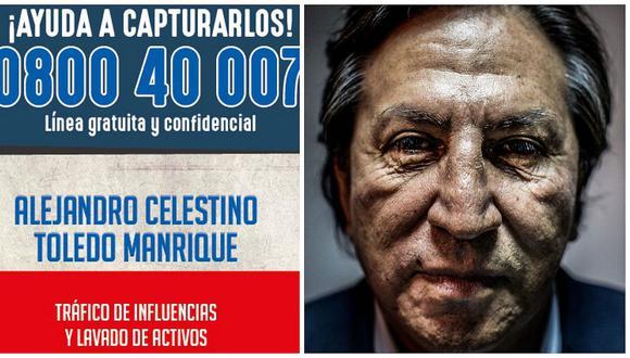 Alejandro Toledo ya es buscado en todo el mundo y ofrecen dineral por su paradero