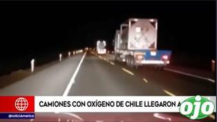 Covid-19: Camiones con oxígeno medicinal donado por Chile llegan a Perú | VIDEO