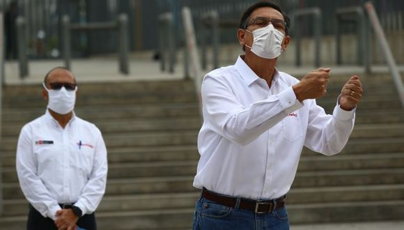 Presidente Martín Vizcarra aseguró que están haciendo todos los esfuerzos para incrementar el número de camas de cuidados intensivos. (Foto: GEC)