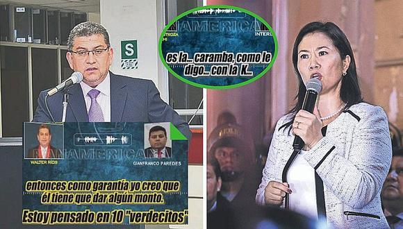 Audios hunden a juez Walter Ríos y Keiko Fujimori se 'limpia' (VÍDEOS)