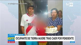 Heladero que ocupaba terreno muere tras caer por pendiente durante desalojo en Villa El Salvador