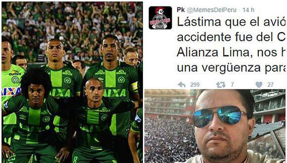 Chapecoense: hincha de la U contra página de meme que usó tragedia para burlarse de AL