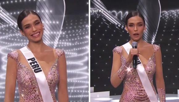 Escucha la respuesta de Janick Maceta en el Miss Universo 2021. (Foto: captura TNT).