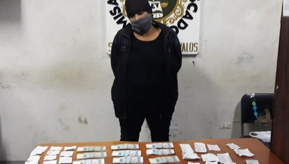 María Paredes fue detenida acusada de robar S/28 mil. (PNP)