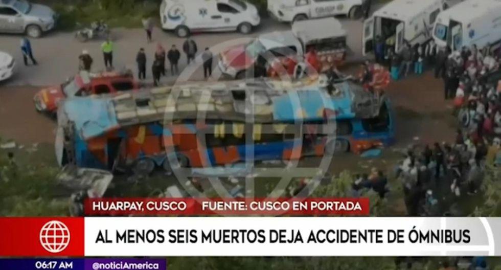 Hasta el lugar llegó personal de bomberos, policías y personal de Serenazgo de la ciudad de Urcos. (América Noticias)