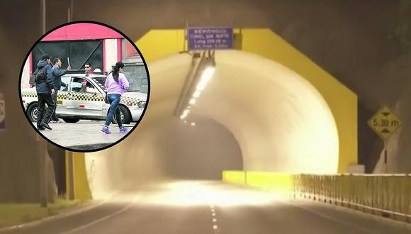 Agreden sexualmente a jovencita dentro de falso taxi colectivero en el túnel Santa Rosa