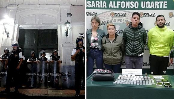 """Detienen a venezolanos y peruanos con droga y a punto de entrar a """"La Casona"""""""