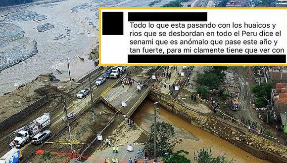Mujer explica así el desborde del río Huaycoloro y ¡la destruyen en Facebook!