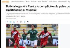 Selección peruana cayó en La Paz y está fue la repercusión en el extranjero | FOTOS