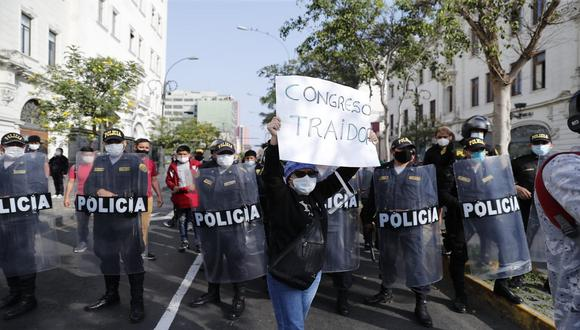 Protestas se realizar en Lima y otras regiones del país en contra de la vacancia de Martín Vizcarra y asunción se Manuel Merino. (Foto: Renzo Salazar/GEC)