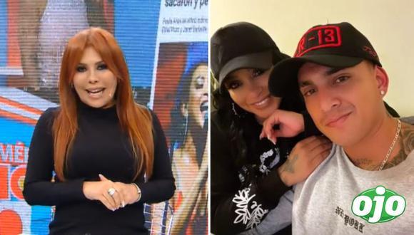 Magaly Medina arremete contra Paula Arias. Fotos: Captura ATV