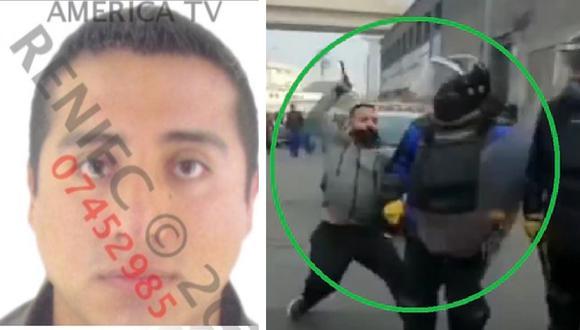 Jean Carlos Pérez Espinoza fue identificado por la Policía tras analizar los videos del ataque. (América Noticias)