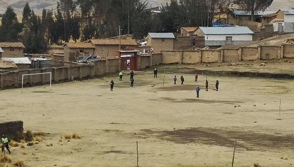 Intervienen a personas que participaban de un campeonato de fútbol (Foto: Municipalidad Huancavelica).