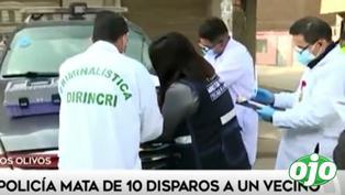 Los Olivos: Policía mata de 10 disparos a su vecino | VIDEO