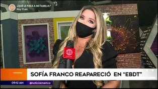 Sofía Franco vuelve como conductora de 'En boca de todos'