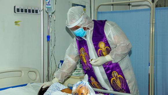 Sacerdote llevó fe y esperanza para los pacientes de la villa EsSalud Piura (Foto: EsSalud)
