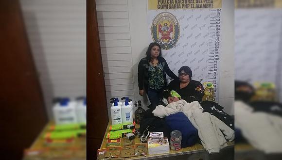Madre e hija tenderas son detenidas tras robar en centro comercial