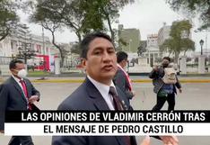 """Cerrón sobre reforma de la Constitución: """"no hay ningún interés de autoritarismo"""""""
