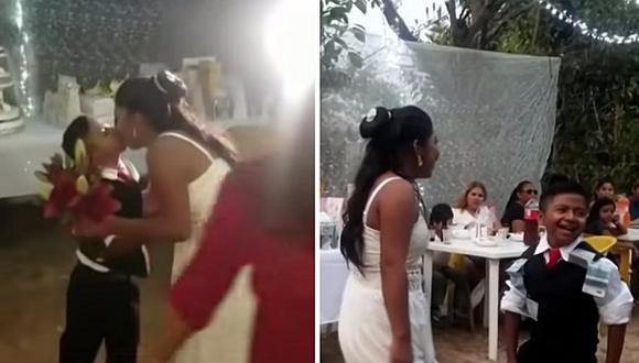 Parece un niño, su boda se volvió viral y causó revuelo (FOTOS Y VIDEO)