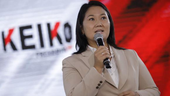 Keiko Fujimori indicó que no distraerá su atención del conteo de votos, ante pedido fiscal para que se le dicte prisión preventiva (Foto: Joel Alonzo/ @photo.gec)